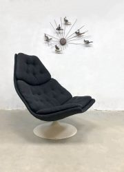Dutch design swivel chair draaifauteuil F511 Geoffrey Harcourt Artifort