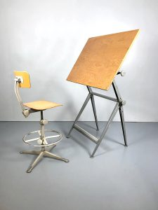 vintage design tekentafel drawing table Dutch Ahrend de Cirkel Wim Rietveld