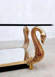 midcentury coffee table salontafel bijzettafel brass gold zwanen