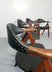 midcentury Dutch design koehoorn dining chairs