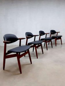 Vintage Dutch design koehoorn stoelen cowhorn chairs Tijsseling