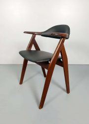midcentury modern Tijsseling chairs cowhorn dutch design stoelen