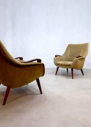 vintage design chair lounge fauteuil Danish teak wood