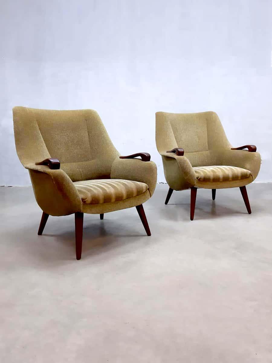 Vintage Dutch Design Easy Chair Arm Chairs Lounge Fauteuils