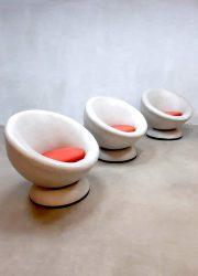 Vintage design ball chairs draaifauteuil swivel chair Space Age