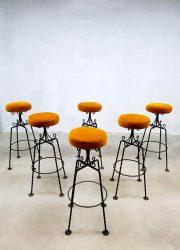 vintage design barkrukken barstools luxury velvet