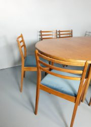 vintage design eetkamer stoel stoelen Deense stijl Danish style dinner chair chairs G plan