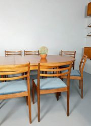 G plan vintage eetkamertafel ovel eetkamerstoelen chairs table oval design retro