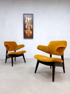 Vintage Dutch design lounge fauteuil armchair Webe Louis van Teeffelen