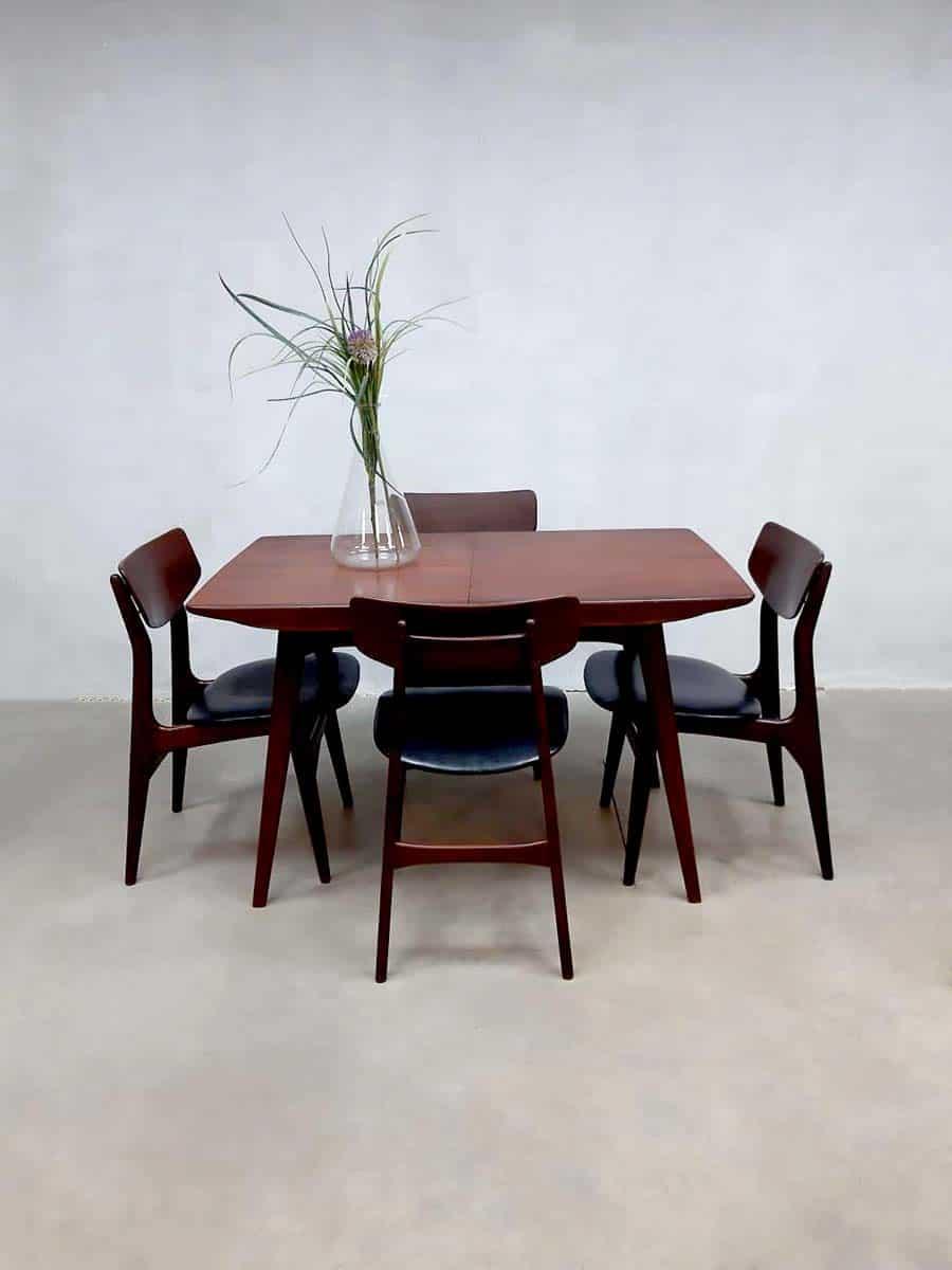 Peachy Vintage Extendable Dining Table Set Chairs Webe Louis Van Spiritservingveterans Wood Chair Design Ideas Spiritservingveteransorg