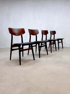 midcentury modern table chairs Dutch design Louis van Teeffelen Webe
