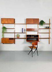 Vintage design wall unit Poul Cadovius wandsysteem Royal system