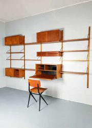 vintage wandsysteem Danish design wall unit Royal system Poul Cadovius