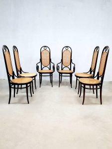 Franse vintage design eetkamerstoelen French dining chairs Thonet