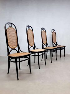 Dining chairs eetkamerstoelen Thonet model 207R set vintage