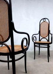 Thonet Michael model 207R set dining chair eetkamerstoel vintage