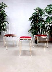 Vintage garden set wire chairs patio tuinset 'la Parisienne'