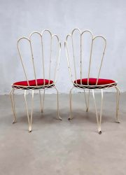 vintage retro tuinstoelen antiek antique wire garden chairs France