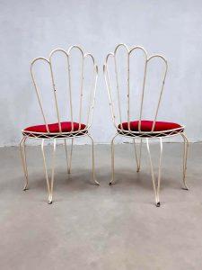 vintage retro tuinstoelen antiek antique wire garden chairs France