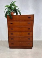 Danish design cabinet chest of drawers Scandinavian design teak wood ladekast