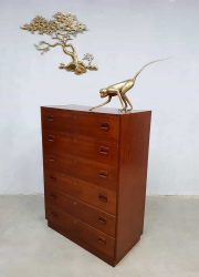 Deense vintage design ladekast Danish chest of drawers