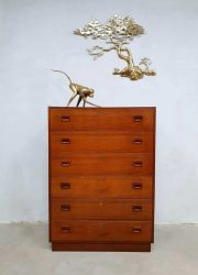 vintage ladekast Deense stijl commode kast chest of drawers
