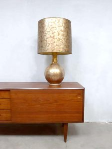 Midcentury Italian design table lamp tafellamp 'touch of gold'