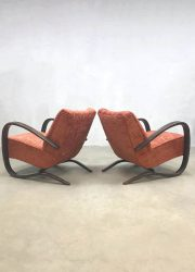 vintage design Czech design Halabala UP Zavody easy chairs armchairs fauteuil