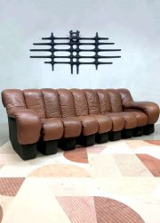 seventies madmen vintage design lounge bank modular sofa de Sede DS600