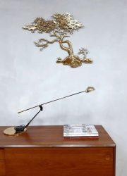 Vintage design brass desk lamp bureaulamp Fase Spain