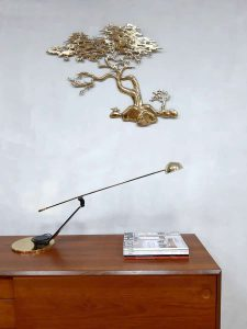 Vintage design brass desk lamp bureaulamp Fase Spain