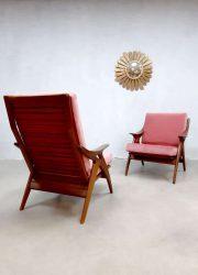 Vintage design de Ster Gelderland the knot fauteuil armchair pink velvet