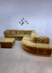 XXL vintage design modular sofa Laauser seating elements velvet