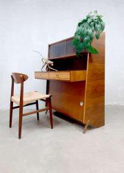 Vintage design secretaire cabinet desk bureau Scandinavian style