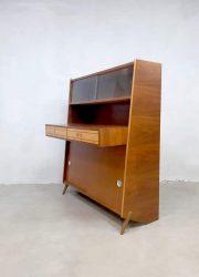 vintage design cabinet desk bureau opberg kast teak wood
