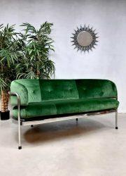 Vintage design chromen velvet sofa loveseat bank 'Minimalism'