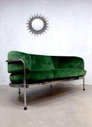Vintage design Italian lounge sofa bank madmen style