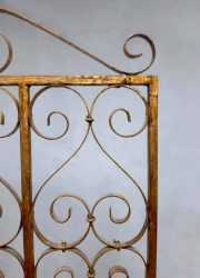 vintage paravan iron wrought gold brass room divider