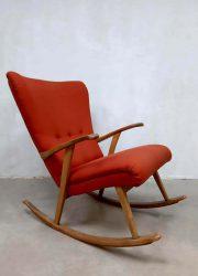 midcentury design oorfauteuil schommelstoel wingback chair Sweden