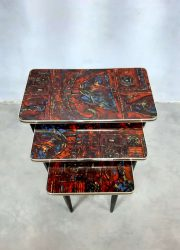 vintage design formica tables nesting tables mimiset