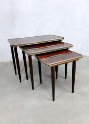 Vintage design mimiset nesting tables bijzettafel sixties