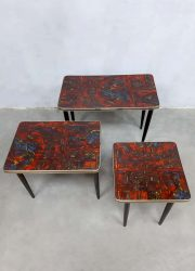 retro design vintage formica bijzettafel nesting tables