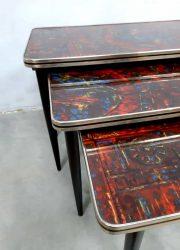 midcentury vintage retro mimiset nesting tables Pop art