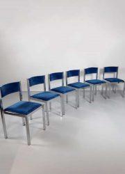vintage Italian design Cidue eetkamerstoelen stoelen dining chairs
