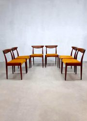 Vintage Danish design dinner chairs Deense stoelen A. Hovmand-Olsen