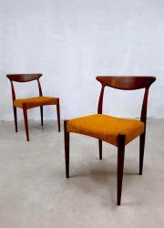 Dinner chairs eetkamer stoelen stoel Hovmand Olsen Danish vintage design Deens