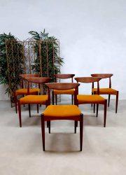 Dinner chair eetkamerstoelen A. Hovmand Olsen vintage Danish Deens design