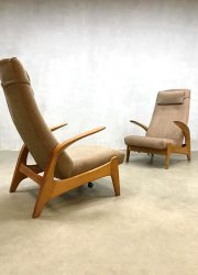 Vintage design rock n rest fauteuil Gimson Slater lounge chair