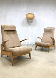 Vintage design armchairs Gimson Slater lounge fauetuils schommelstoel