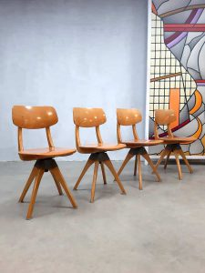 Vintage design swivel chairs eetkamer stoelen Casala